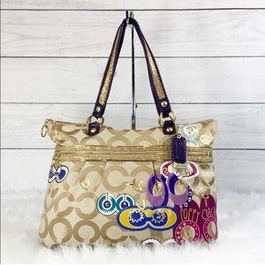 Coach Poppy Pop C Appliqué Glam Bag